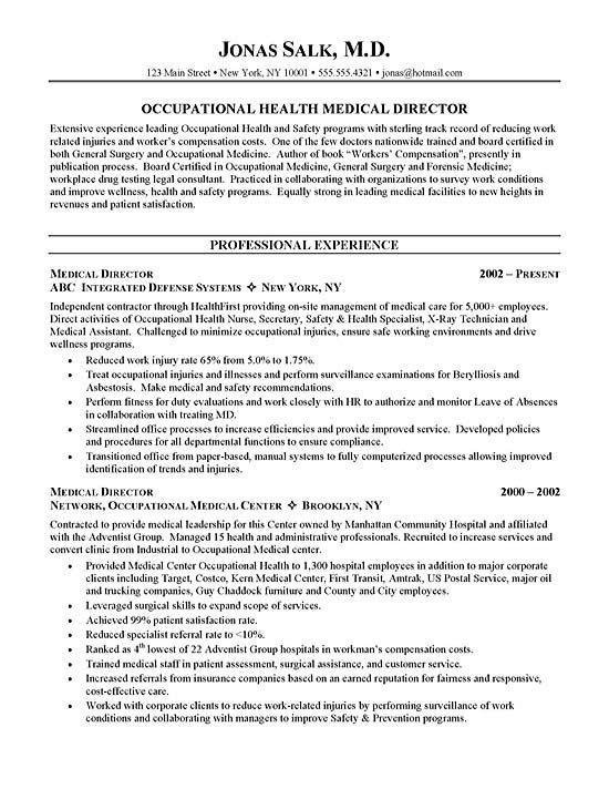curriculum vitae examples medical doctor and cover letters on