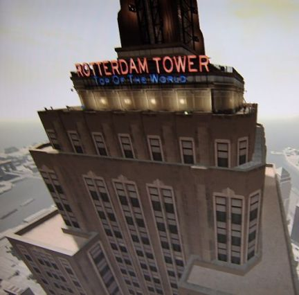 Empire State Building showed in Grand Theft Auto as Rotterdam Tower