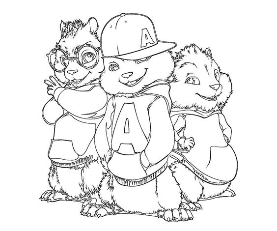 chipmunks coloring pages for kids and coloring pages on pinterest