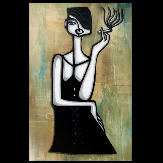 Bad Habits Original Abstract painting Modern pop by fidostudio: