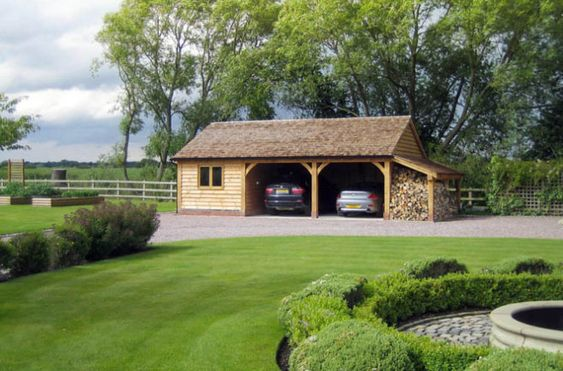 Style Wooden Garages And Building On Pinterest