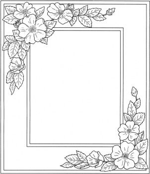 frames coloring and coloring pages on pinterest