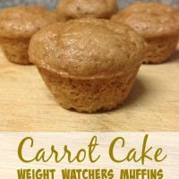 Carrot Cake Weight Watchers Muffins (1 Points Plus Value or 2 Smart Points)