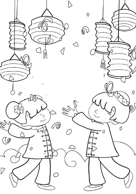chinese new years colouring pages and chinese on pinterest