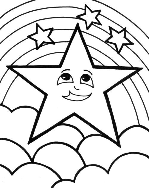 rainbow star coloring pages kids coloring pages pinterest