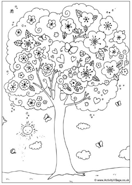 spring colouring pages activity village coloring pages verdao co