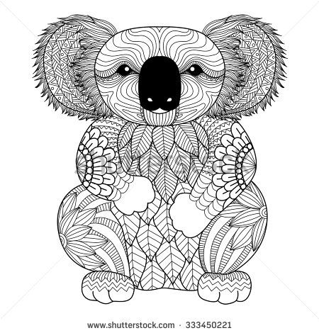 koalas zentangle and coloring pages on pinterest