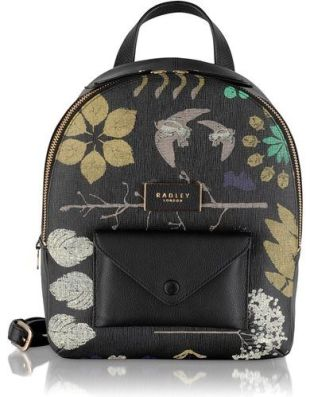 Herbarium black backpack , Black: