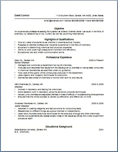weak points in resume