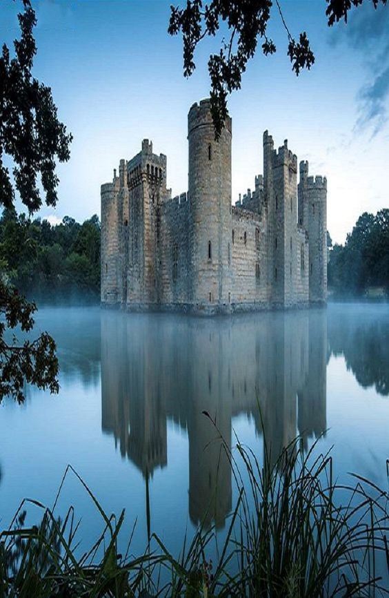 Bodiam Castle is a 14th-century moated castle near Robertsbridge in East Sussex. It was built in 1385 by Sir Edward Dalyngrigge, a former knight of Edward III, with the permission of Richard II.: