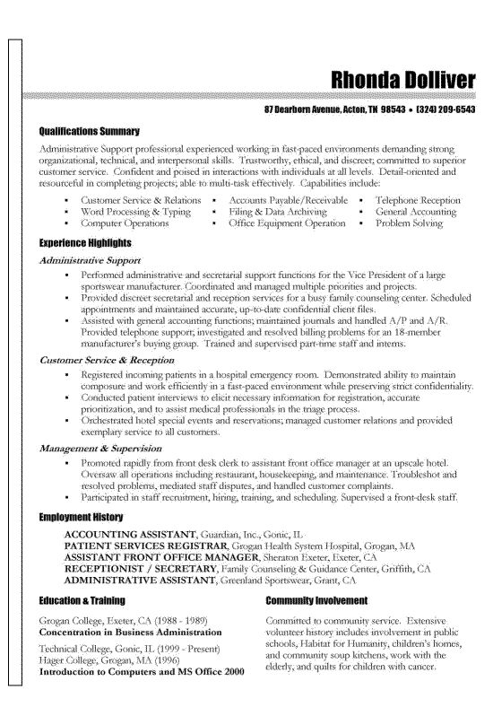 examples for skills on a resumes template
