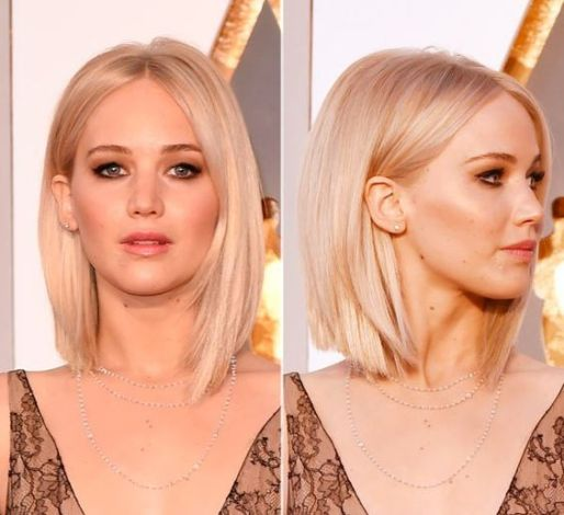 Pin straight hair is really cute for long bob hairstyles!