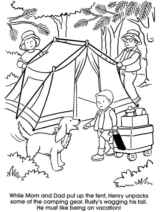 camping coloring pages kids coloring amp activity pages