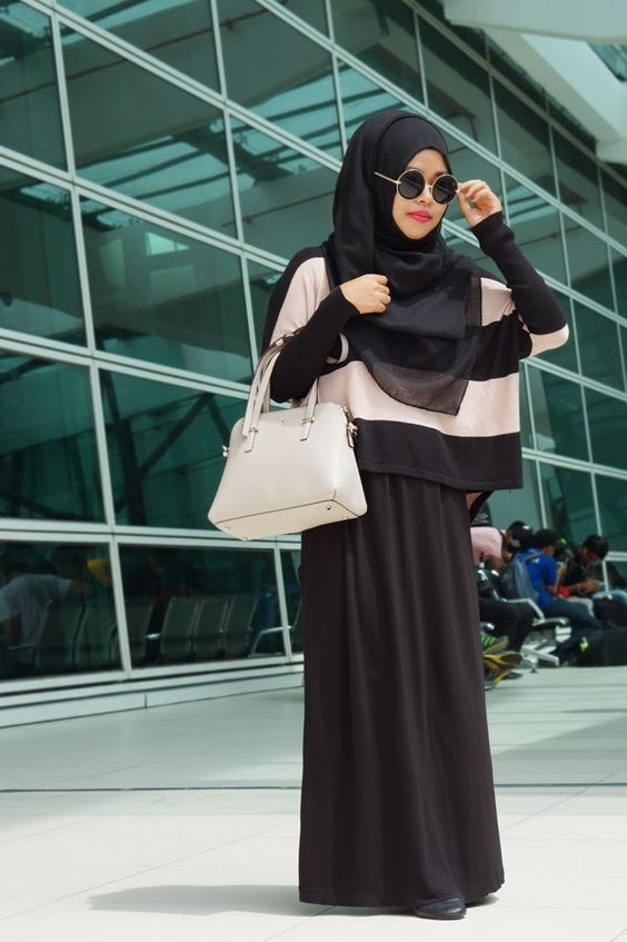 Airport Look My Amethyst Hijab Modesty Pinterest