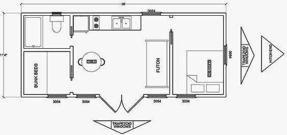 Cabin Floor Plans, Floor Plans And Cabin On Pinterest