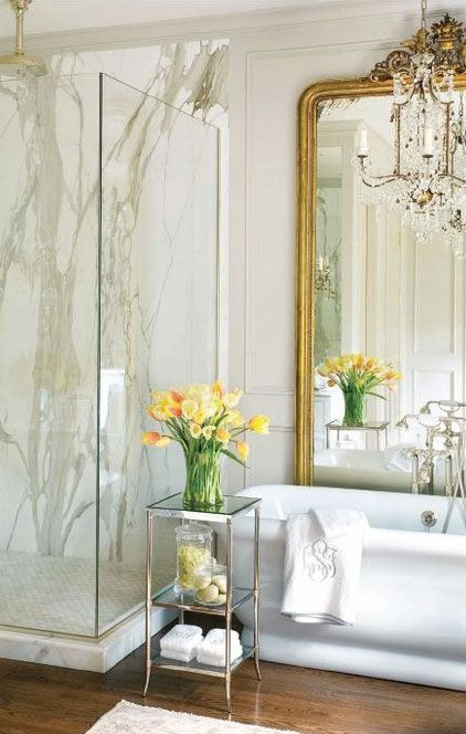 love the oversized mirror: