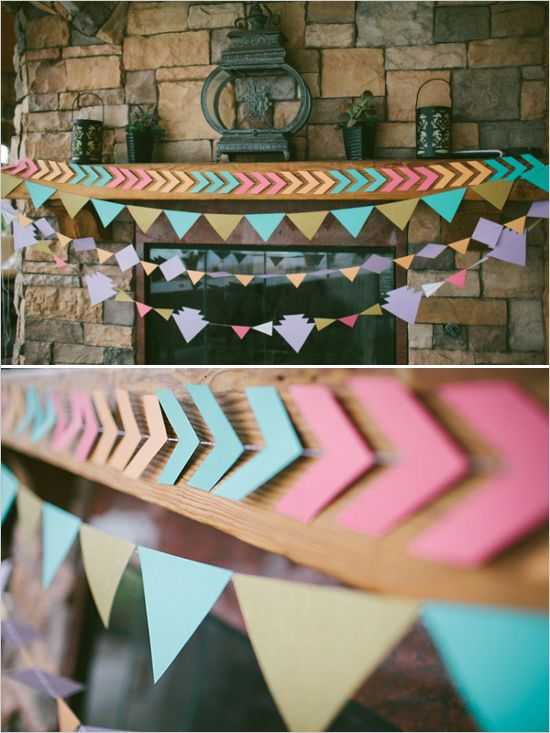 DIY feestdecoratie   slingers, pijlen en driehoekjes