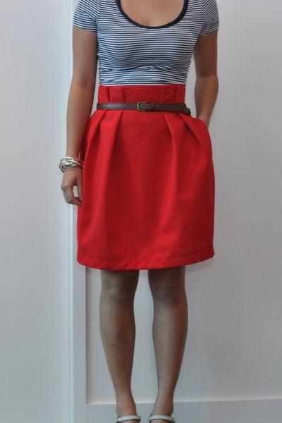 Paper Bag Skirt Tutorial