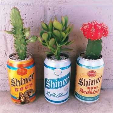 Upcycled Tin Can Plant Holders | #UpcycledCans | #UpcycledPlantHolders