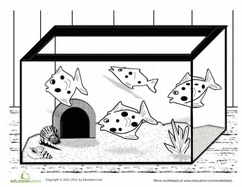 fish tank coloring page fish tanks worksheets and coloring pages