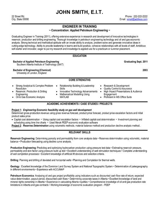 automotive engineering entry level and resume on pinterest