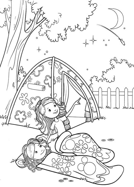 coloring pages girl scout camping and coloring on pinterest