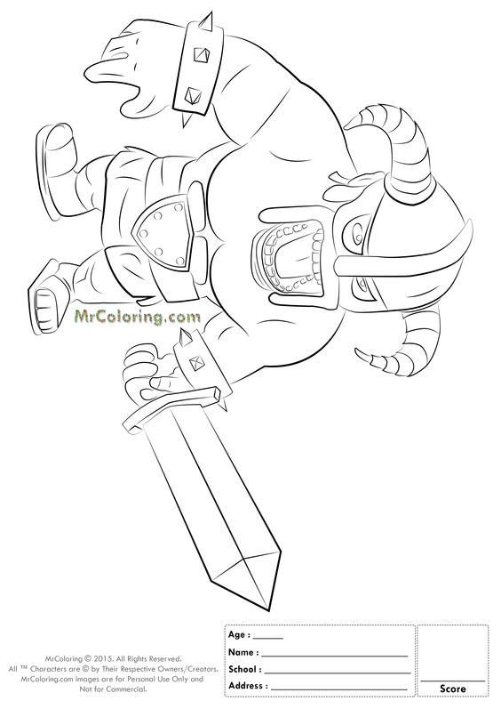 clash royale coloring pages coloring pages