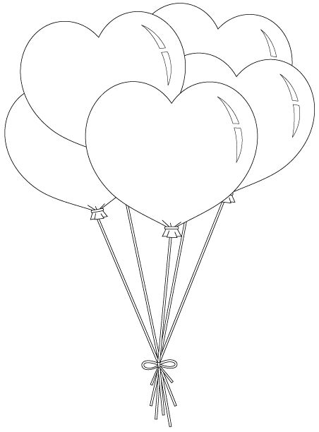 Heart Balloon Bunch Unbelievable Number Of Free Digis