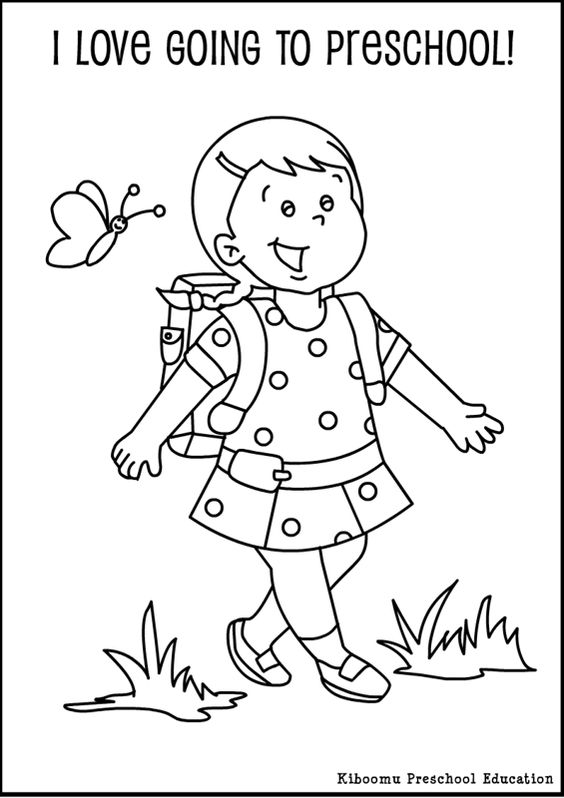 preschool first day coloring pages and preschool on pinterest