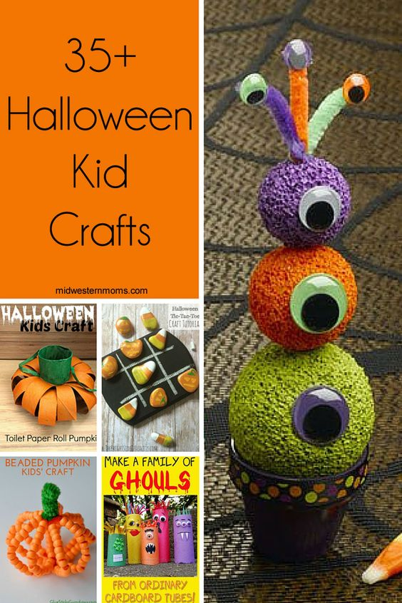 35+ Halloween Kid Crafts For kids, Classroom and Crafts