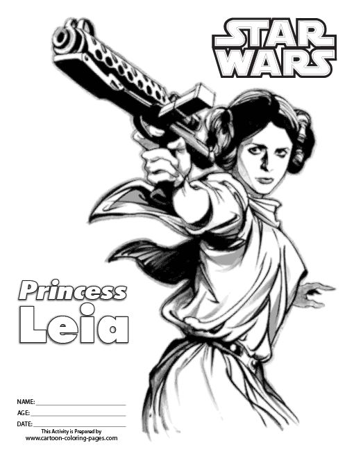 star wars princess leia coloring pages star wars online coloring