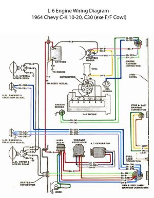 ELECTRIC: L6 Engine Wiring Diagram | '60s Chevy C10