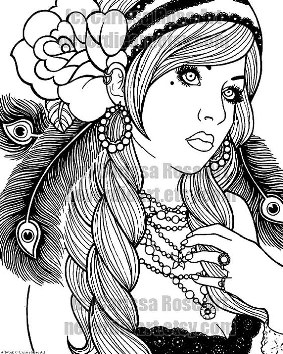 gypsy girls coloring books and coloring on pinterest