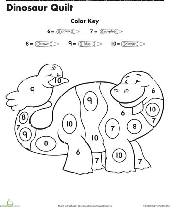 color by numbers dinosaurs and numbers on pinterest