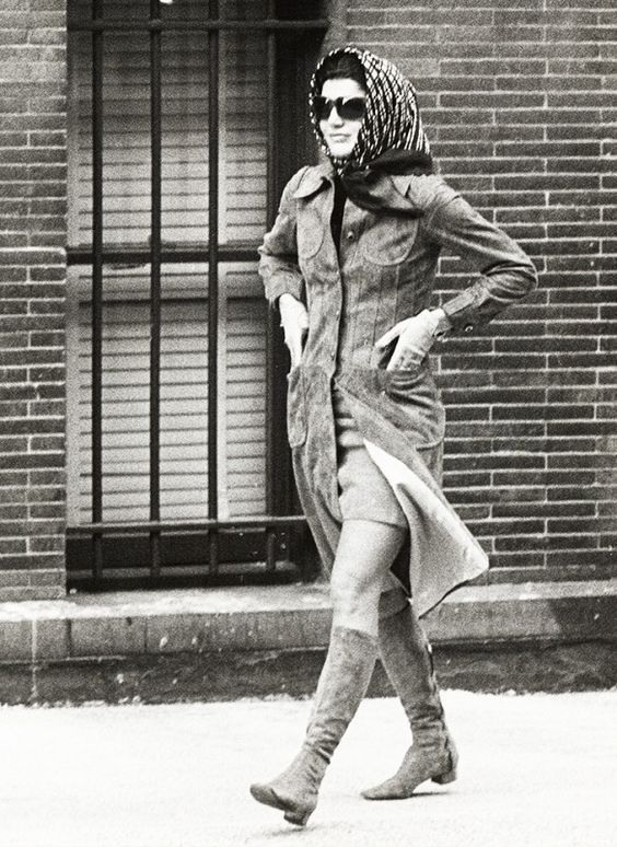Jackie O's Best Street Style Looks Coats, High boots and