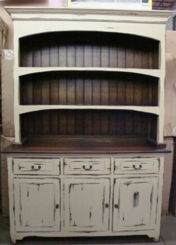 Farmhouse Open Hutch Buffet Cabinet Distressed Mahogany Buffet Cabinet Cabinets And Farmhouse