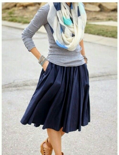 very cute, feminine, and laid back. Plus, I can't get enough of navy!: