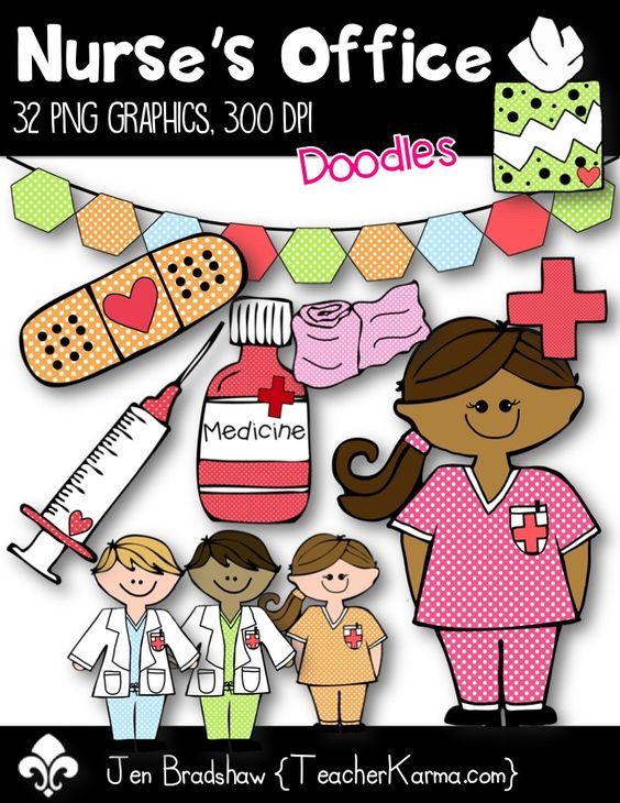 Nurse's Office Clip Art Commercial Use OK Bandaid