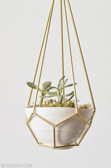 15 Gorgeous DIY Hanging Planter Ideas To Beautify Your Home: