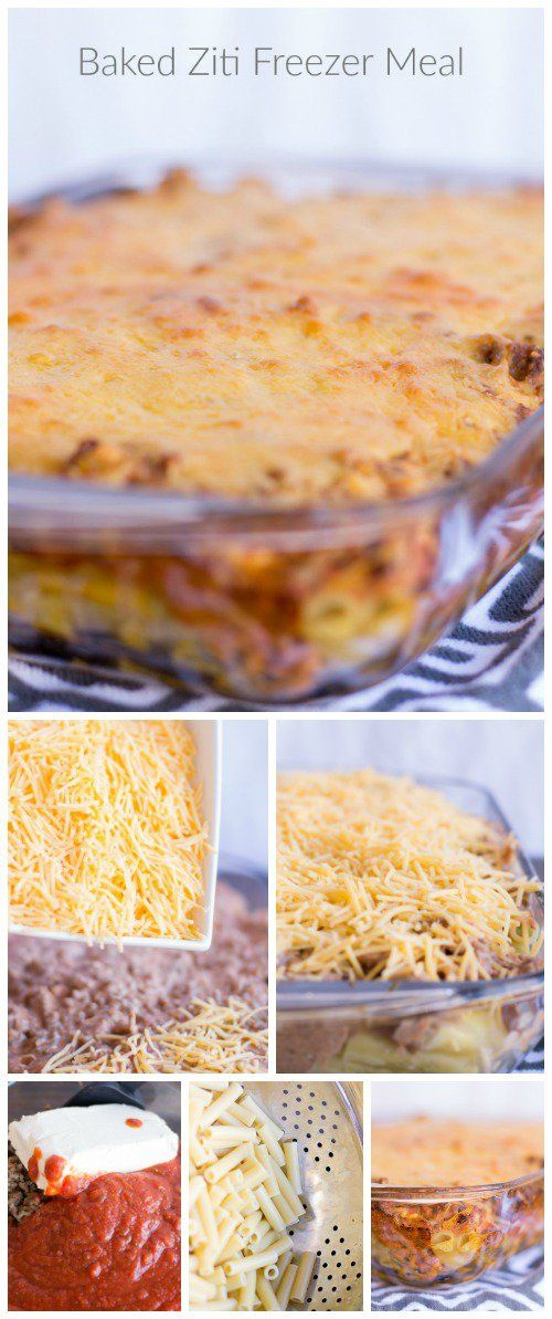 Baked Ziti Easy Freezer Meal Recipe via Passion for Savings - Homemade Dinner Recipes that save you Time and Money!