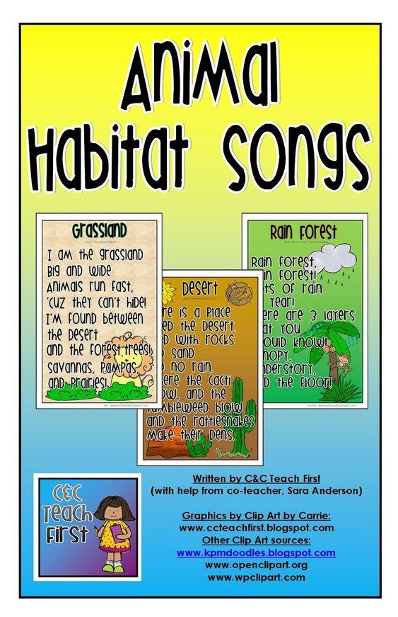 Habitats, Songs and Vocabulary on Pinterest