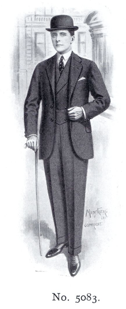 August 1914, man suit with a bowler hat Elephant's