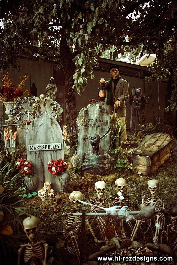 Yard haunt, Inspiration and Halloween on Pinterest