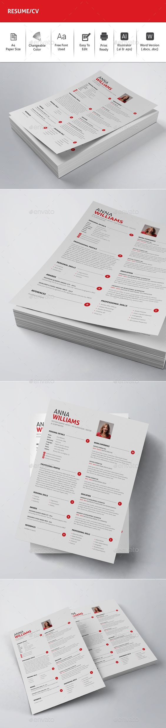 resume cv cv template and resume on pinterest