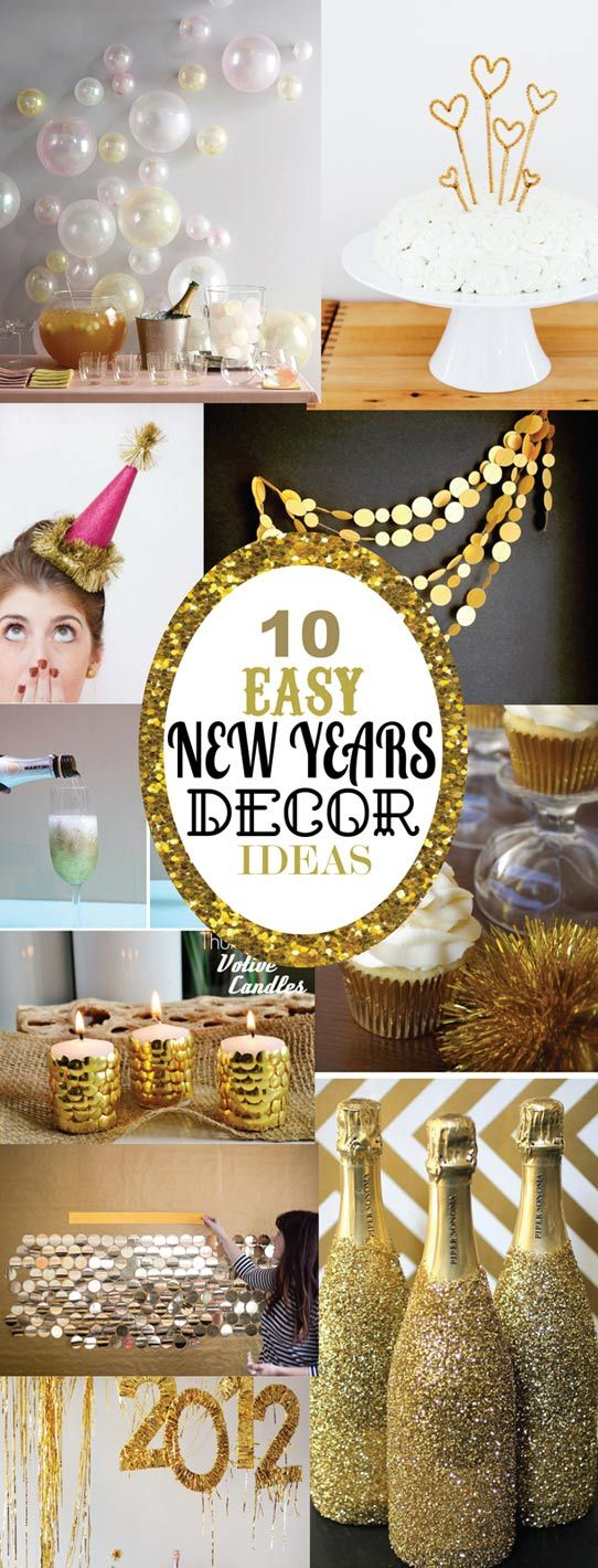 10 Easy New Years Decorating Ideas Creative, Champagne