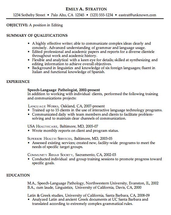 resume resume examples and good resume on pinterest