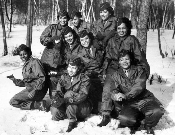The first Black Women's Army Corps to go overseas during World War 2:
