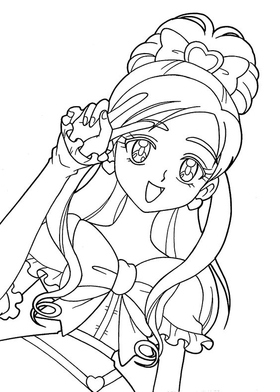 pretty cure coloring pages for kids and coloring pages on pinterest