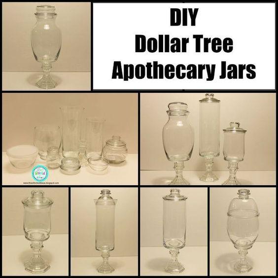 DIY Dollar Tree Apothecary Jars Trees Jars And Dollar Tree