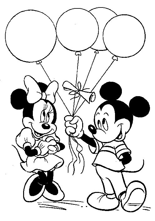 mickey mouse balloons mickey mouse and coloring pages on pinterest